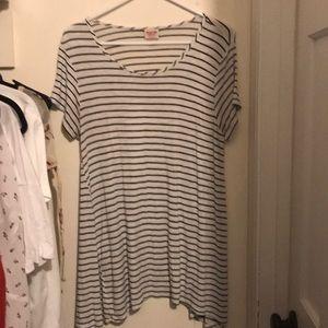 White & Black Stripe Tunic